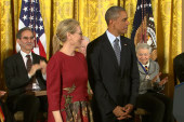 Actress Streep awarded Medal of Freedom