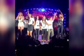 Taylor Swift invites soccer champs onstage