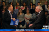 Clinton, Sanders square off at town halls