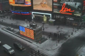 Timelapse: Snow falls in NYC's Times Square