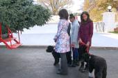 Obama family greets White House Christmas...