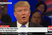 Trump on apologizing and twitter trouble