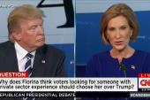 Trump, Fiorina clash over careers