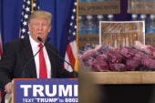 Trump defends Trump water, steaks, magazine