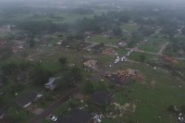 Drone captures horrific tornado damage