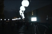 Wall of balloons soar into the sky in Berlin