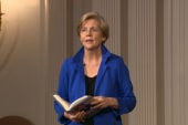 Elizabeth Warren reads from 'A Fighting...