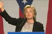 Clinton addresses GOP 'gender card'...
