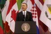Obama seeks support from European allies