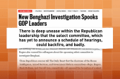 Is the GOP uneasy when it comes to Benghazi?