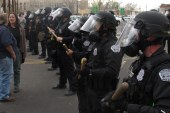 Police and protesters clash in New Mexico