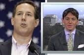 When will Santorum return to the trail?