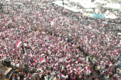 Demands for President Morsi's resignation...