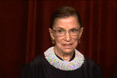 Justice Ginsburg says she's not going