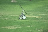 Small flying vehicle lands on Capitol lawn