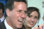Caught on cam: Santorum loses cool with press