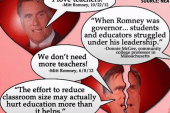 Romney's position on teachers remains...