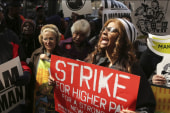 Fast food workers go on strike