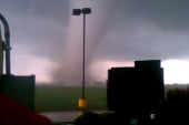 Survivor films video of approaching twister