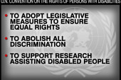 Working to pass the Disabilities Treaty