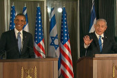 Obama advocates for two-state solution...
