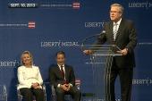 Hillary Clinton and Jeb Bush together again