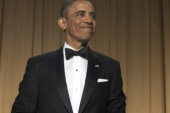 Obama jokes with, lectures media