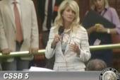 Texas Senate Democrat single-handedly...