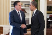 What did Obama and Romney talk about?