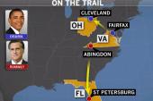 Obama, Romney head to battleground states