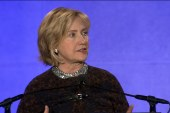 Clinton makes speech at CAP conference