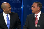 Booker, Lonegan trade barbs in NJ debate