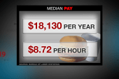 Workers push for higher wages