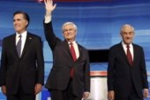 Romney and Gingrich avoid sparring at GOP...