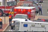 Kasie Hunt: Ambulances parked outside Navy...