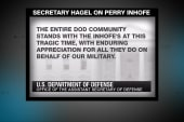 Hagel sends condolences to Inhofe family