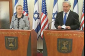 Clinton presses for Israel-Hamas cease-fire