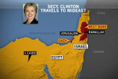 Clinton departs for Mideast amid Gaza crisis