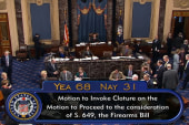 Senate begins movement on gun legislation