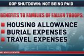 Families of fallen troops hit by shutdown
