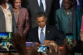 Obama signs VAWA, signals major victory...