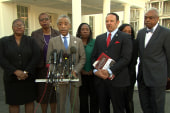 Rev. Sharpton speaks at civil rights meeting