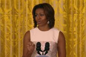 First Lady unleashes a veggie 'rap'