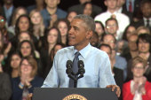 Pres. Obama takes fairness fight to Kansas