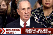 Letters sent to NYC mayor tested positive...