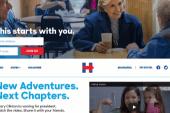 Clinton's campaign website makes a splash