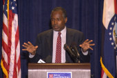 Carson makes remarks in Ferguson