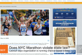 NYC Marathon lottery fee: Is it prohibited?
