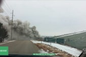 Fire could reach radioactive landfill in MO