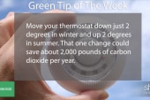 Green Tip: lower your thermostat by 2 degrees